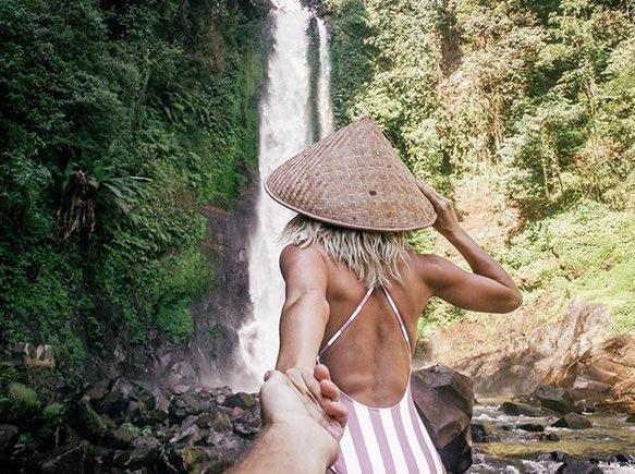 things to do on your bali honeymoon - git git waterfall