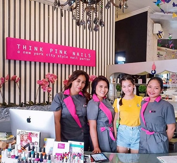 places to get nails done in bali - think pink nails