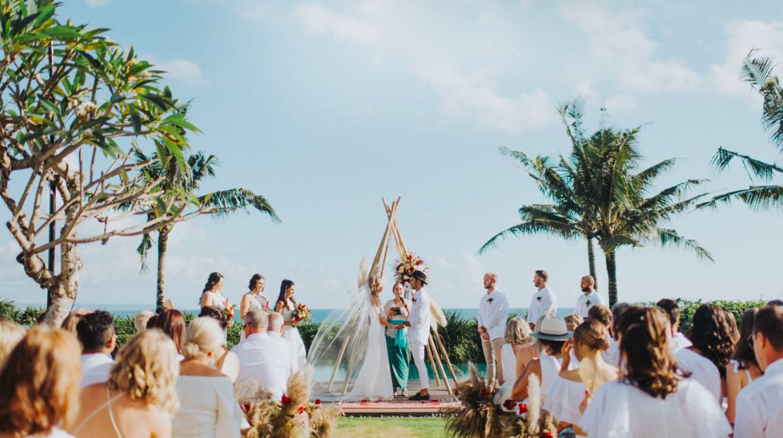clare and nathan wedding in bali ceremony