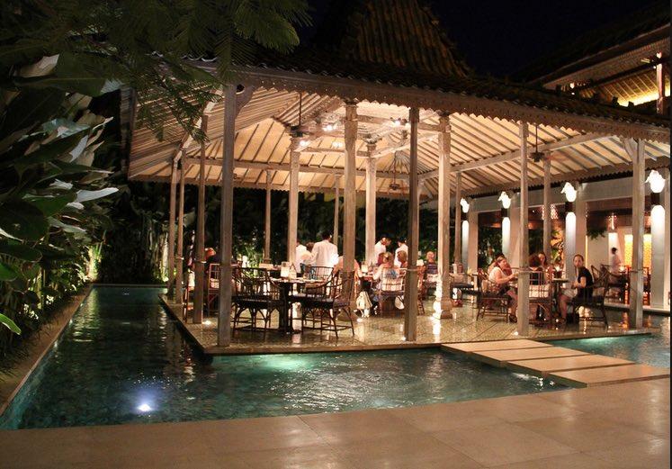 romantic restaurants in bali - bambu seminyak